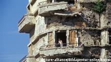 lebanon, beirut, war ruins on the green line | Verwendung weltweit, Keine Weitergabe an Wiederverkäufer.