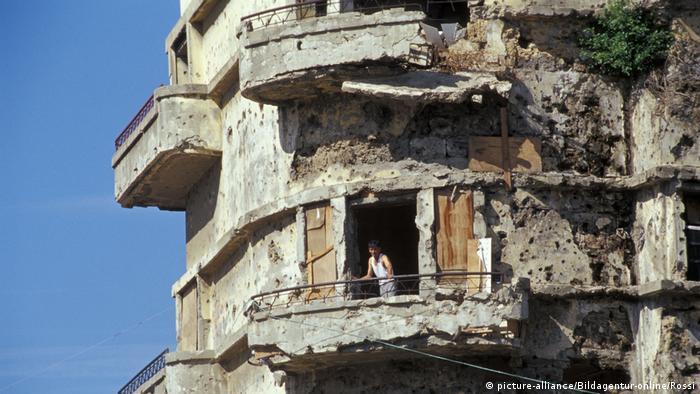 Armut in Libanon - Ruinen in Beirut
