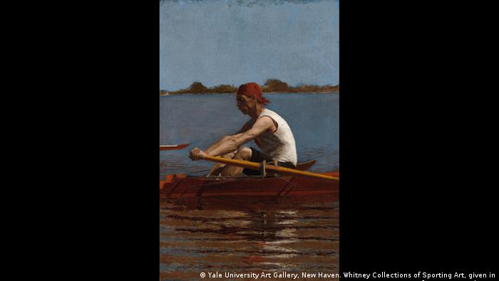 Ein Ruderer im Einmann-Boot (Yale University Art Gallery, New Haven. Whitney Collections of Sporting Art, given in memory of Harry Payne Whitney)