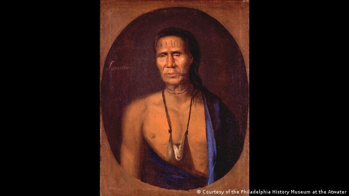 Porträt von Lapowinsa, einem Native American (Courtesy of the Philadelphia History Museum at the Atwater)