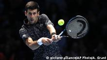 ATP World Tour Finals in London | Novak Djokovic, Serbien (picture-alliance/AP Photo/A. Grant)