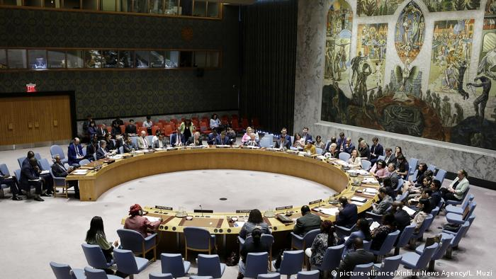 UN-Sicherheitsrat in New York | Debatte Sanktionen gegen Eritrea (picture-alliance/Xinhua News Agency/L. Muzi)