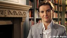 Serbische Premierministerin, Ana Brnabic