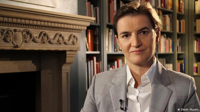 Serbische Premierministerin, Ana Brnabić