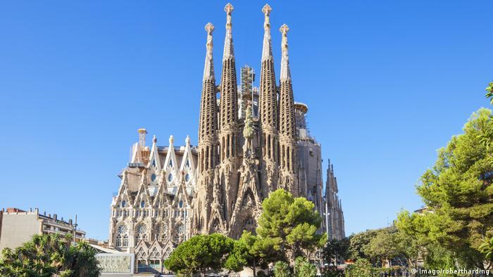 Exterior of Barcelona's Sagrada Familia cathedral