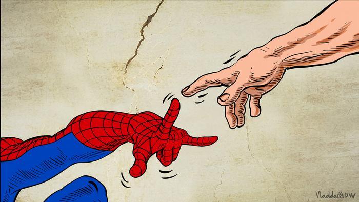 Karikatur von Vladdo zu Stan Lee