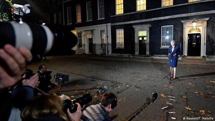 London Downing Street Statement Theresa May Brexit Entwurf (Reuters/T. Melville)