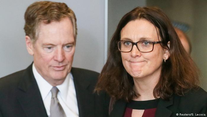 US Handelsbeauftragter Lighthizer & EU-Kommissarin für Handel Malmström