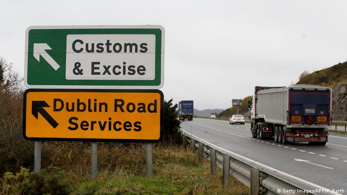 A highway outside Newry, Northern Ireland near the border with the Republic