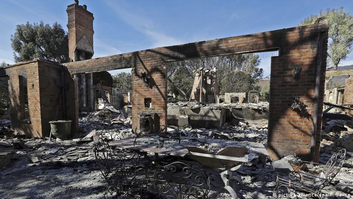 Waldbrände in Kalifornien Villa von Thomas Gottschalk