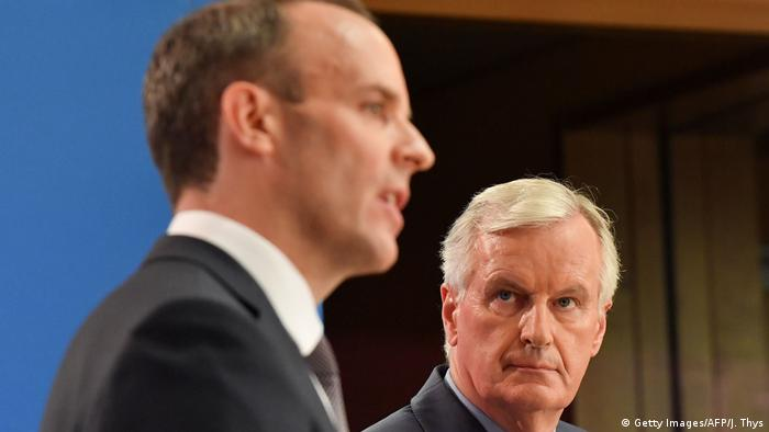 Dominic Raab und Michel Barnier (Getty Images/AFP/J. Thys)
