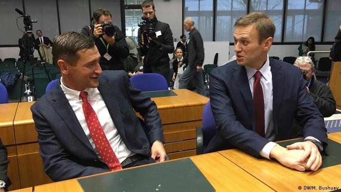 Олег и Алексей Навальные в зале заседаний ЕСПЧ