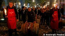 Frankreich Lyon - Verkaufstarts des diesjährigen Beaujolais Nouveau