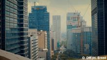 A view of high-rise buildings in the Philippines