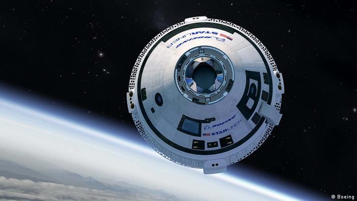 Artist impression of Boeing's CST-100 Starliner spacecraft