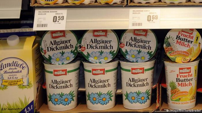 Dickmilch in a store (Imago/Becker&Bredel)