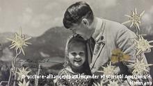 Historisches Foto mit Hitler und jüdischem Mädchen