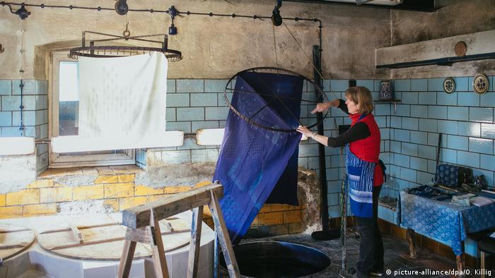 Blaudruckerin Reppe in Pulsnitz