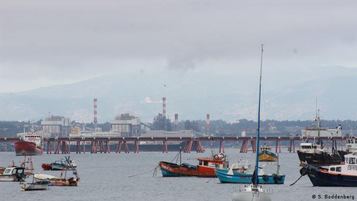 Industrial port of Quintero, Chile