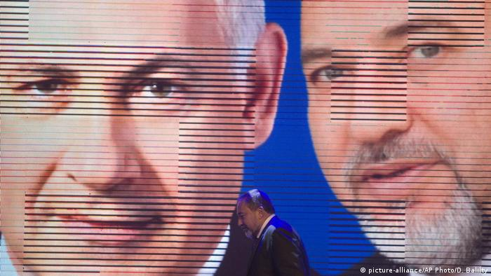 Israel Lieberman und Netanjahu (picture-alliance/AP Photo/D. Balilty)