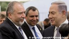 Lieberman und Netanjahu (Foto: picture-alliance)