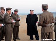 Ким Чен Ын на испытаниях нового оружия