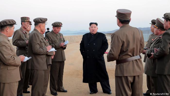Nordkorea Kim Jong Un testet Hightech-Waffe in Pjöngjang (Reuters/KCNA)