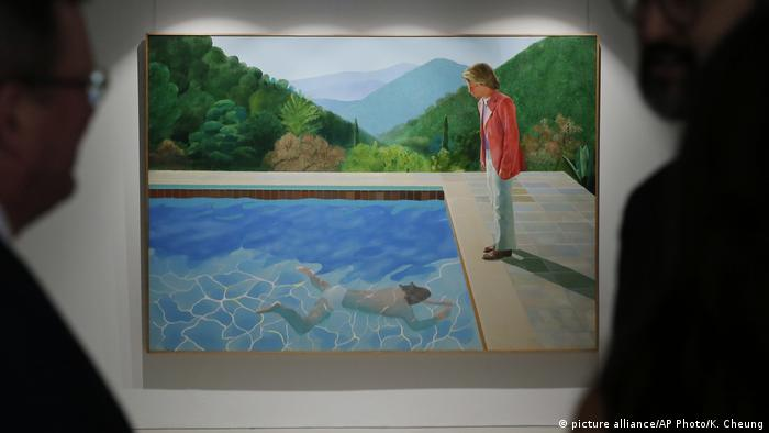 Portrait of an artist (pool with two figures) by David Hockney (picture alliance/AP Photo/K. Cheung)