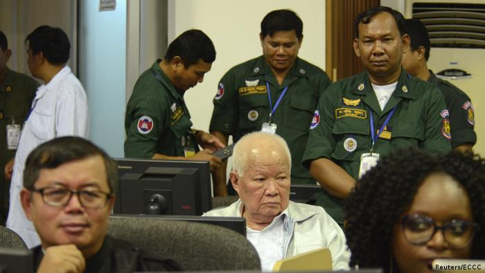Khieu Samphan sitting in court (Reuters/ECCC)
