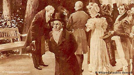 Ludwig van Beethoven refuses to bow to the prince in Teplitz in 1812
