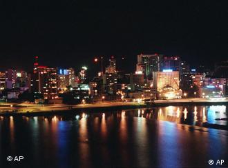 This is a skyline view of Abidjan, capital of the Ivory Coast in May, 1997. The Ivory Coast, determined to be an African elephant in league with Asian tigers is adding oil, minerals, industry and banking to its traditional wealth from coffee and cocoa. (AP Photo/Mort Rosenblum)