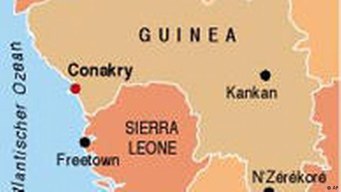 GUINEA Karte des Landes