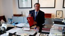 Deutschland, Berlin: Altkanzler Gerhard Schröder gibt ein Interview