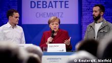 Deutschland Chemnitz Angela Merkel & LeserInnen der Zeitung Freie Presse