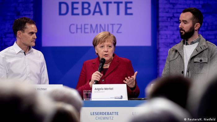 Встреча Ангелы Меркель с читателями газеты Freie Presse