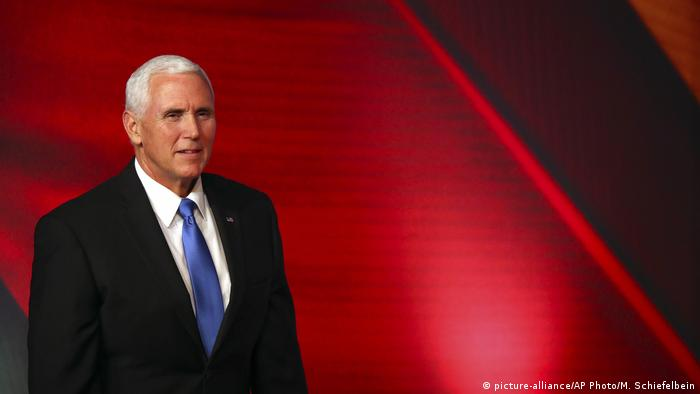 Mike Pence (picture-alliance/AP Photo/M. Schiefelbein)