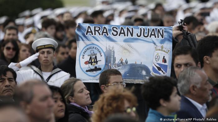 Argentinien Jahrestag des vermissten U-Boots ARA San Juan