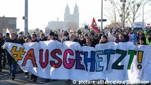 Deutschland Magdeburg AfD Bundesparteitag | Protest gegen AfD