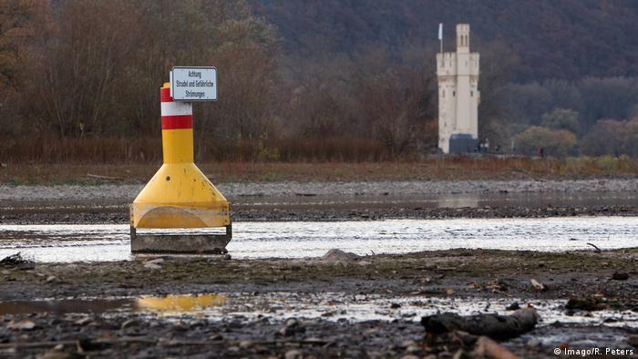 Deutschland Trockenheit | Rhein bei Bingen (Imago/R. Peters)