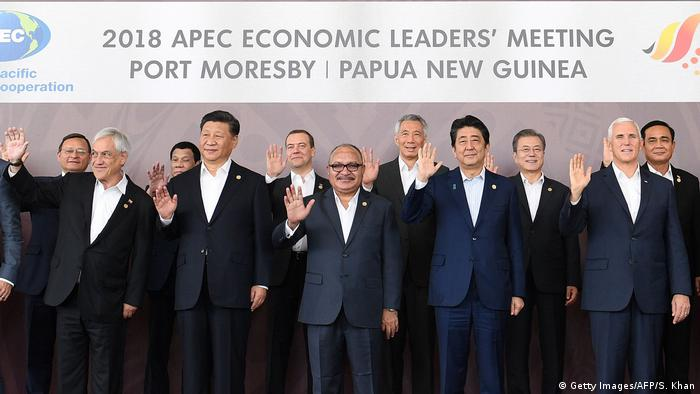 APEC leaders at the summit in Port Moresby