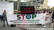 April 24, 2017 - MNchen-Flughafen, Bayern, Germany - The fifth deportation flight of approximately 100 Afghan refugees took off from the Munich International Airport amid a protest in the terminal by approximately 105 demonstrators . In 2016, the interior ministry of Germany declared Afghanistan a safe country of origin, despite terror attacks and deaths due to violence and attacks spiking for the year. Speakers included Margarete Bause, a parliamentarian with the Green Party, Matthias Wenzerl and Stephan Duennwald of the Bayerischer Fluechtlingsrat (Bavarian Refugee Council)..Furthermore, the German consulate in Mazar-i-Sharif of the Balkh Province was stormed by Taliban fighters and heavily damaged by a car bombing in Nov. 10, 2016. Germany has specifically named this region as safe. On 21 April 2017, a planned attack by the Taliban killed over 100 people at Camp Shaheen, the Afghan Army base in Mazar-i-Sharif. To domestic and international ridicule the German governments Auswaeriges Amt (external office) issued a travel warning against Afghanistan due to security concerns. Several states in Germany have stopped deportations to Afghanistan on the grounds of questionable safety in the country. Among deportees were actors, artists, and the persecuted Afghan Hindus. An Afghan Jew, Mobin N. is currently in Synagogue-Asylum, as he was set to be deported on Feb 23. These two cases illustrate that Germany is not evaluating the refugee process on a case by case basis, as is required by international laws..The first two deportations were from Frankfurt, with the last three from Munich, following the sharpening of the CSUs asylum politics and fast-tracking of deportations. It has been alleged, that there were irregularities in the behavior from BAMF |