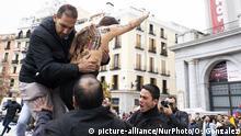 Spanien Madrid   Femen-Protest gegen Anhänger von Diktator Franco, 43. Todestag
