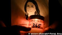 Malta Gedenken ermordete Journalistin Daphne Caruana Galizia (picture-alliance/AP Photo/J. Borg)