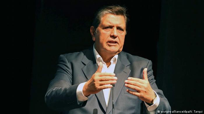 Peru Ex-Präsident Alan Garcia (picture-alliance/dpa/V. Tarqui)