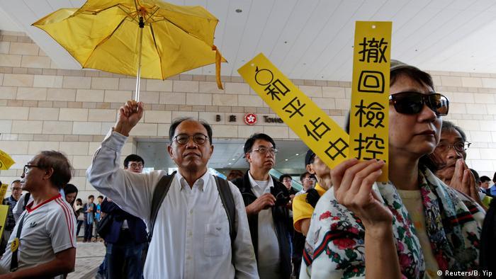 香港伞运九子案开审 控罪罕见惹争议