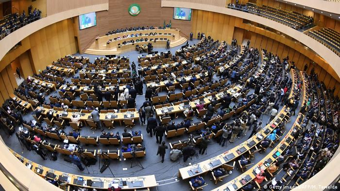 A view of the plenary session at the AU headquarters in Addis Ababa (Getty Images / AFP / M. Tewelde)