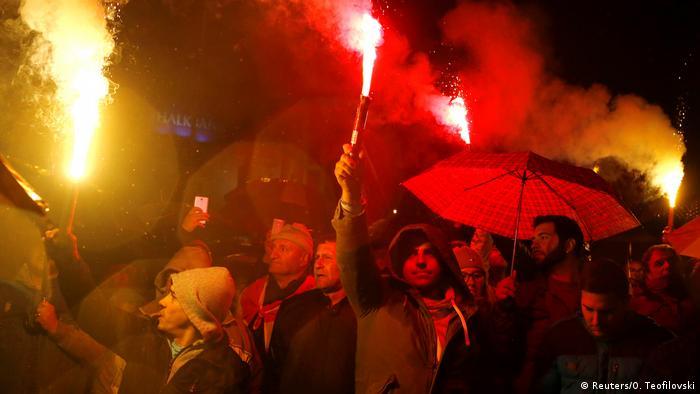 Mazedonien Protest Namensänderung