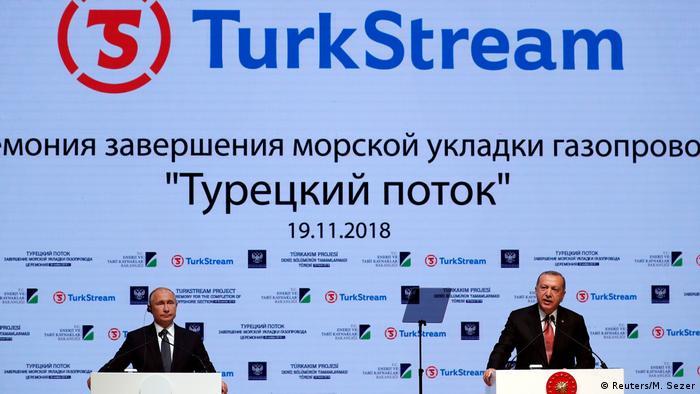 Putin und Erdogan Eröffnung TurkStream (Reuters/M. Sezer)