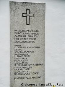 Tablica w Miejscu Pamięci Flossenbuerg