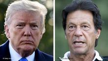 Bildkombo Donald Trump und Imran Khan